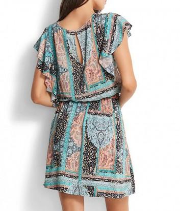 Легкое платье-туника Seafolly 53206-DR с цветным принтом