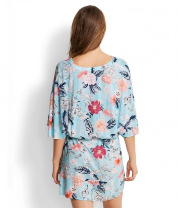 Легкое платье Seafolly 53200-KA голубое с цветочным принтом