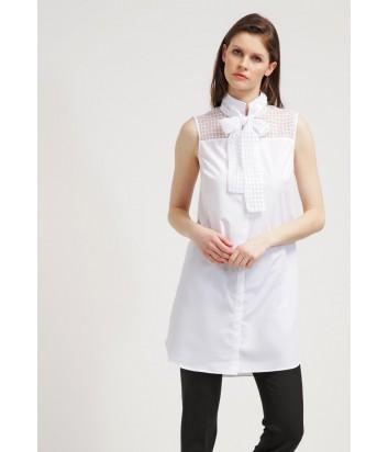 Платье-рубашка Karl Lagerfeld на пуговицах белое