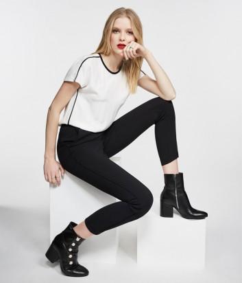 Комбинированный комбинезон Karl Lagerfeld с вырезом на спинке черно-белый