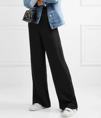 Шелковые широкие брюки Karl Lagerfeld с пуговицами по бокам