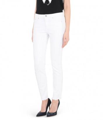Белые джинсы Karl Lagerfeld с бахромой по бокам