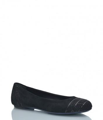 Замшевые балетки Loriblu 0048 черные