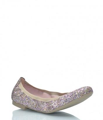 Кожаные балетки Pretty Ballerinas 37.191 покрыты цветным глиттером