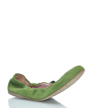 Замшевые балетки Pretty Ballerinas 44.911 зеленые