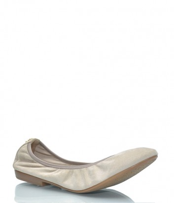 Замшевые балетки Renzi 526607 бежевые