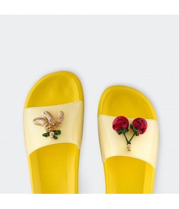 Женские шлепанцы с ароматом Lemon Jelly Tropica 02 желтые