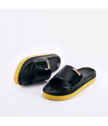 Женские шлепанцы с ароматом Lemon Jelly Float 01 черные