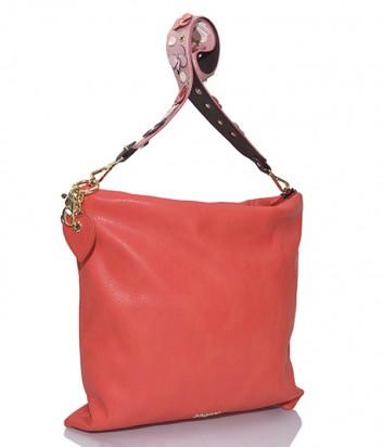 Сумка-шоппер Blugirl Blumarine 919003 с декорированной плечевой ручкой коралловая