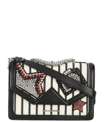 Сумка через плечо Karl Lagerfeld Klassik Sparkle декорированная кристаллами