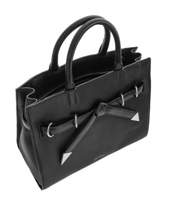 511098daa905 ... Каркасная сумка Karl Lagerfeld Rocky Bow из мягкой кожи черная ...