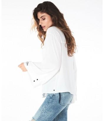 Белая рубашка One Teaspoon с расклешенными рукавами