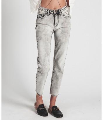 Высокие джинсы One Teaspoon Awesome Baggies серые