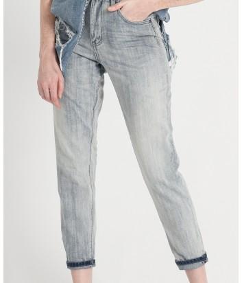 Высокие джинсы One Teaspoon Diamonde Legends серо-голубые
