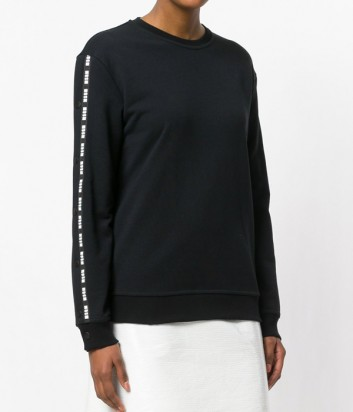 Черный свитшор MSGM с регулируемыми вставками на рукавах