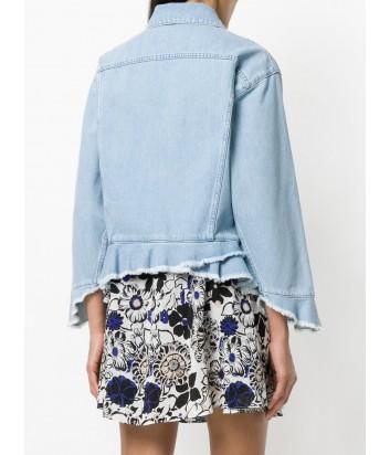 Джинсовая куртка MSGM на молнии голубая