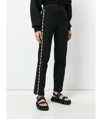 Черные женские брюки MSGM с надписями по бокам