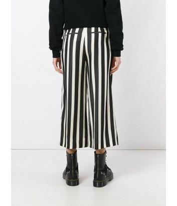 Укороченные брюки MSGM в черно-белую полоску
