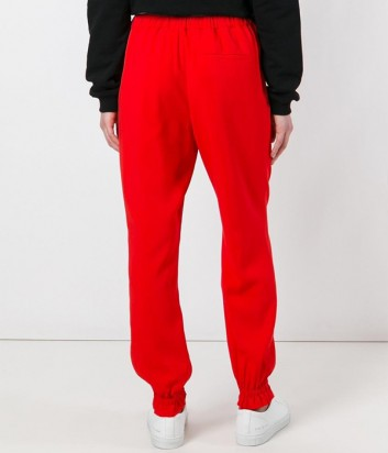 Красные брюки с завязками MSGM в спортивном стиле