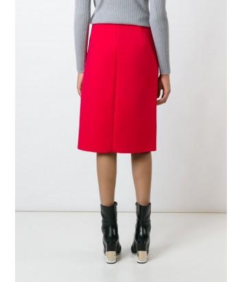 Красная юбка-миди MSGM с крупными рюшами