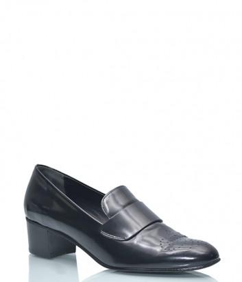 Туфли из полированной кожи Fabio Rusconi 1214 с перфорированным носком