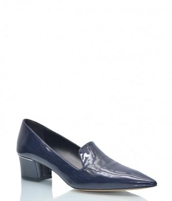 Лаковые туфли Fabio Rusconi 334 с заостренным носком синие
