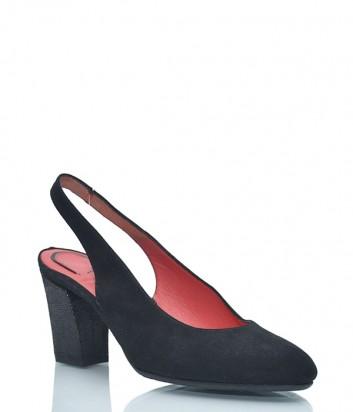 Замшевые босоножки Pas de Rouge 108 черные