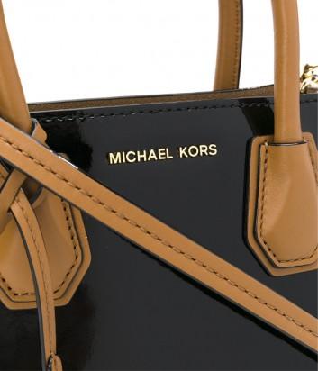 9a73c0221a25 ... Лаковая сумка Michael Kors Mercer Color-Block комбинированная черная ...