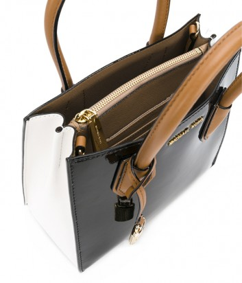01c6eed45b41 ... Лаковая сумка Michael Kors Mercer Color-Block комбинированная черная
