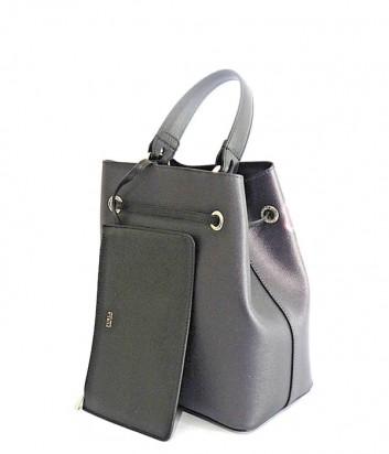 Кожаная сумка Furla Stacy 921444 серая с цветочным узором