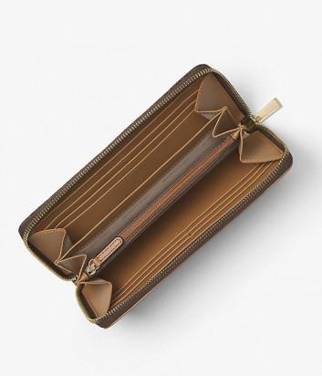 Комбинированное портмоне Michael Kors Mercer с лого коричневое
