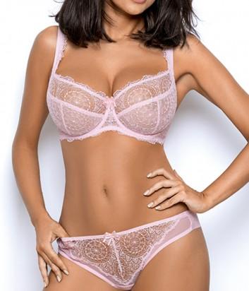 Комплект Ewa Bien Dream бюст с мягкой чашкой B103 и бразилианки C322 розовый