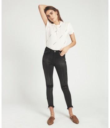 Укороченные джинсы скинни One Teaspoon Paris Freebirds черные