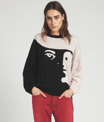 Кашемировый женский свитер One Teaspoon Labyrinth с рисунком