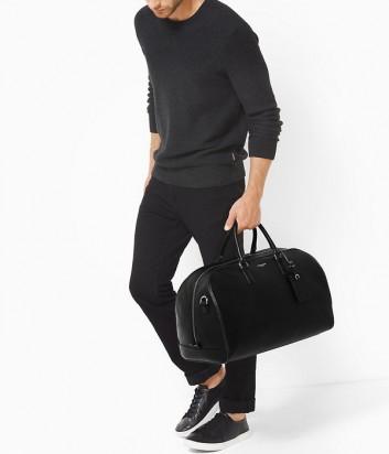 Дорожная кожаная сумка Michael Kors Mens Bryant черная