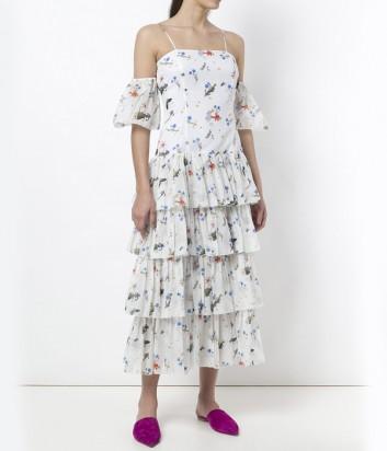 Легкое платье Vivetta с открытыми плечами и рюшами