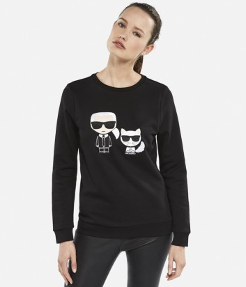 Женский свитшот Karl Lagerfeld KARL & CHOUPETTE IKONIK черный