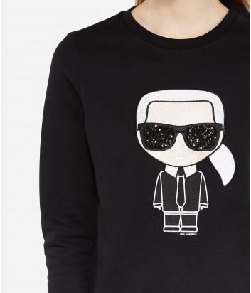 Женский свитшот Karl Lagerfeld KARL IKONIK черный
