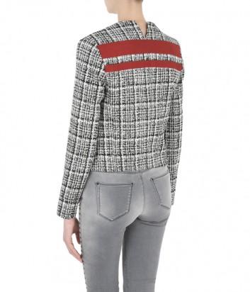 Женский пиджак Karl Lagerfeld BOUCLÉ JACKET с асимметричными полосками
