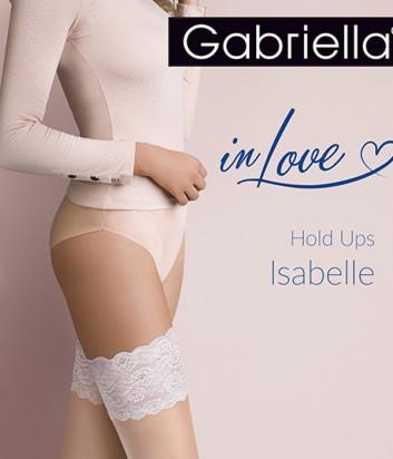 Чулки Gabriella Isabelle 20 den телесные с кремовым кружевом