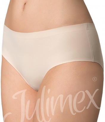 Бесшовные трусики слипы Julimex Simple телесные