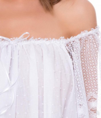 Длинная рубашка Suavite Корин белая