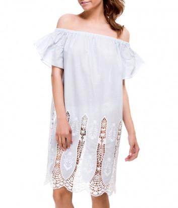Легкое платье-туника Suavite 12133 нежно-голубое