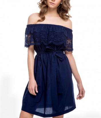 Легкое платье Suavite 12333 синее