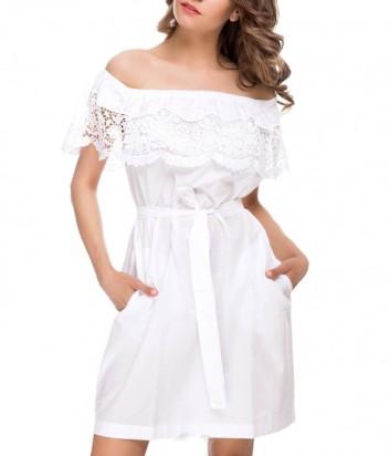 Легкое платье Suavite 12333 белое
