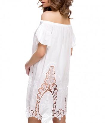 Легкое платье-туника Suavite 12133 белое