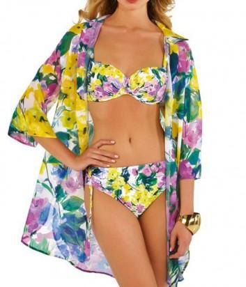Легкая пляжная рубашка Roidal Flor Lila с цветочным принтом