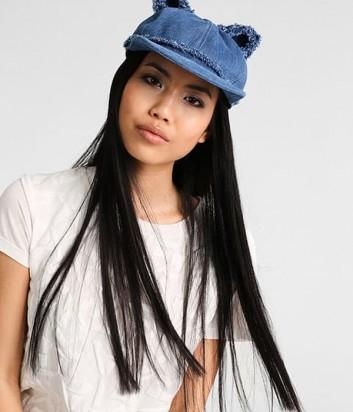 Кепка женская с ушками Karl Lagerfeld сине-голубая