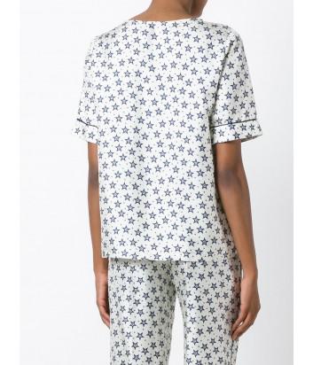 Шелковая футболка P.A.R.O.S.H. с принтом звезд белая