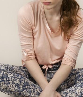 Пижама Gisela 31509 розовая с принтом